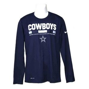 Men's Nike Dallas Cowboys Shirt Size Slim Medium